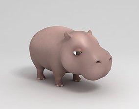 Hippopotamus 3D model safari