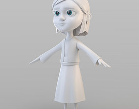 3D Cartoon Peasant Girl
