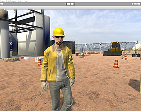 Working man 3D asset