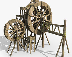 3D model Waterwheel