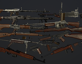 3D asset Ultimate ww2 weapons pack