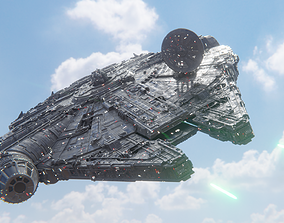 3D model Millennium Falcon - Game Ready