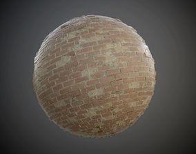 Brick Wall Concrete Decay Seamless PBR Texture 3D model