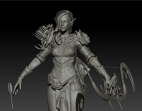 3D model Elf girl high poly