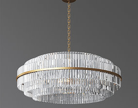 Vienna Round Crystal Chandelier Antique Brass 3D model