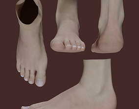 Woman Foot 3D asset