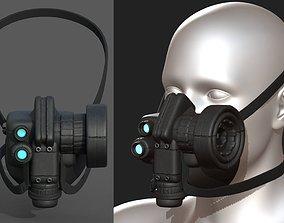 VR / AR ready Gas mask respirator scifi futuristic 3d 1