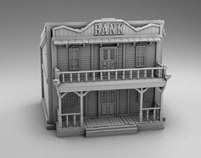 Wild west bank 3D print model