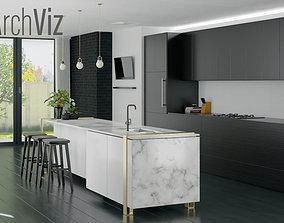 3D model Kitchen Archviz