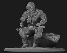 3D print model Sci fi cyborg soldier miniature