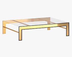 Modern golden glass table 3D
