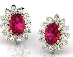 Women earrings 3dm render detail hoop gold
