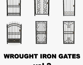 Wrought iron gates 3d models collection vol 2