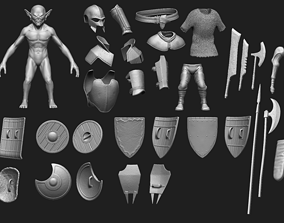 High Poly Goblin Warrior Pack - 29 items 3D