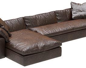3D Restoration Hardware Cloud Leather Sofa Chaise