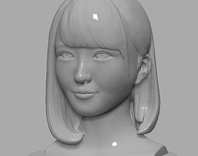 Female Face 3D print model girl