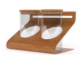 3D Empty Food Storage Glass Jars