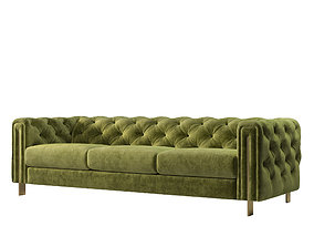 Acanva Luxury Chesterfield Vintage Sofa 3D