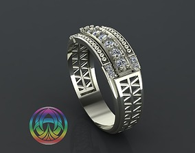 jewelry diamond ring wedding 3D print model