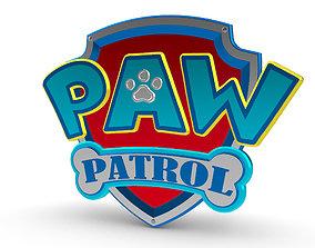Paw Patrol Shield 3D Logo