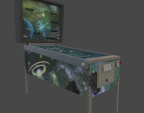 Pinball Machine 3D asset