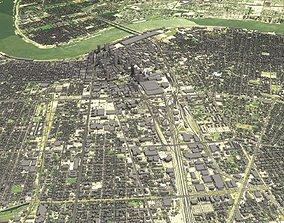 Cityscape New Orleans Louisiana USA 3D model