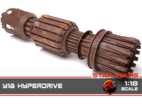 3D printable model Star Wars - Y18 Hyperdrive 1-18 scale
