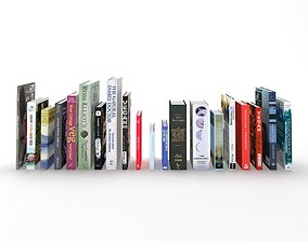 Collection of hardcover books 3D