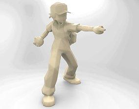 Pokemon trainer 3D print model