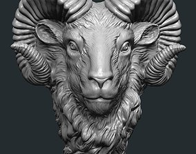 3D model Ram head art