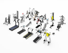 training Gym Equipment 3D model