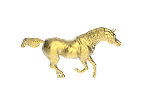 3D printable model Arabic Horse in galloping position