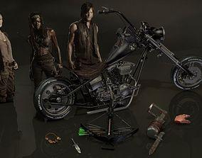 3D Walking Dead Daryl Dixon Set