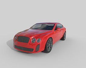 3D model Low Poly Car - Bentley Continental Supersports 1
