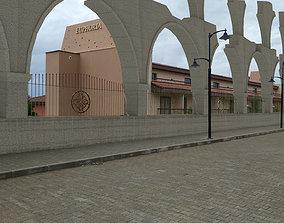 3D model Architectural Ruin