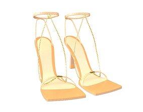 3D asset Square Toe Leather Sandals v2 002