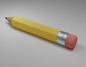 3D asset Wooden Pencil