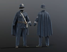 3D model POLICEMAN British bobby