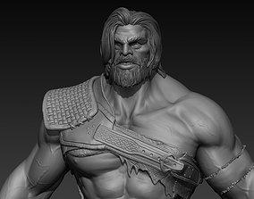 Warrior Berserker 3D model realistic