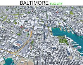 3D asset Baltimore Maryland 50km