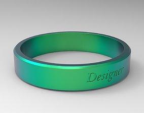 Designer Ring Green 3D printable model