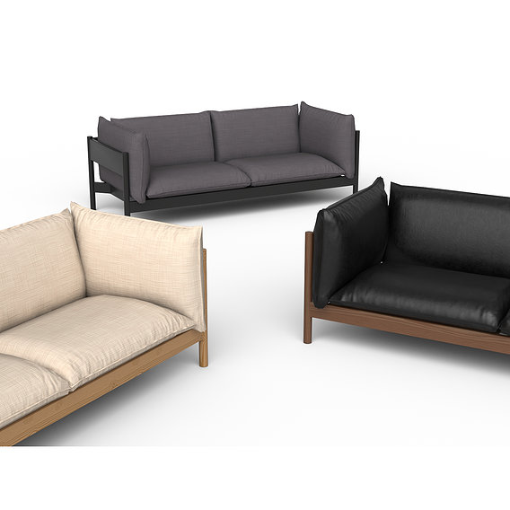 Low Poly sofa modeling