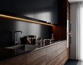 3D model Modern Kitchen for Cinema 4D and Corona Renderer