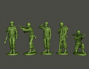 3D American soldier ww2 A4 Pack