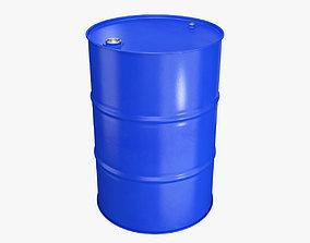 waste 3D model Metal barrel blue