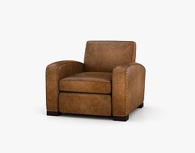 Restoration Hardware Library leather chair 3D
