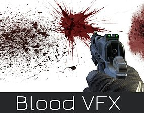 Blood Effects Realistic VFX Damaged Hits Burst 3D model