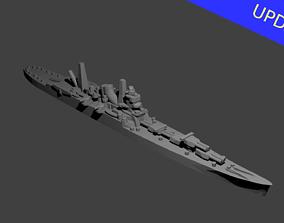 Japanese Tone Class Cruiser Warship 3D print model