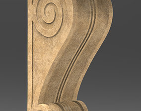 carved Architectural Decorative 3 3D model