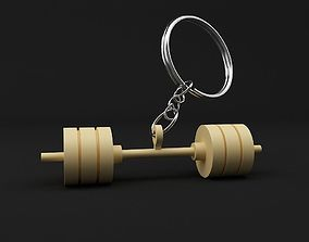 3D print model Dumbbell keychain
